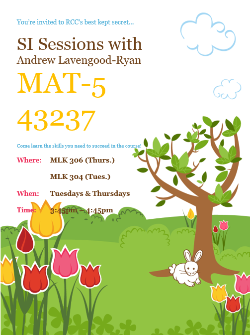 MAT-5 SI Session Flyer