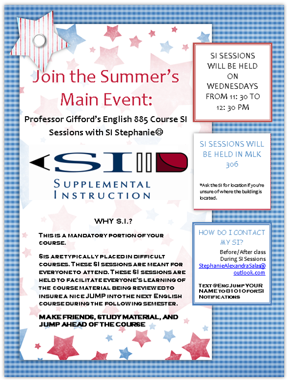 ENG-885 SI Session Flyer