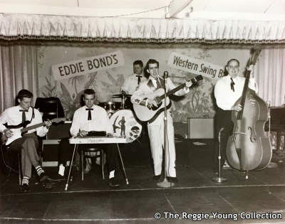 With Eddie Bond's Stompers at The Palm Club in Memphis - 1956