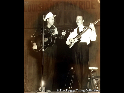 With Johnny Horton at The Louisiana Hayride - 1958