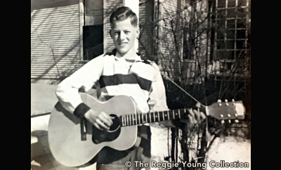 Reggie with his first guitar - Memphis 1951