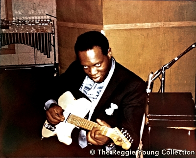 King Curtis plays Reggie's guitar at American Sound in Memphis - 1967