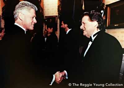With President Clinton at the Kennedy Center Honors for Johnny Cash - 1996
