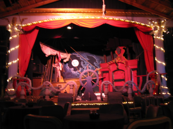 Stage set for the Bucaneer's Ball, in the Theater