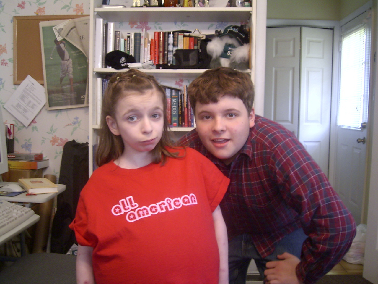 Amber and her big bro Andrew