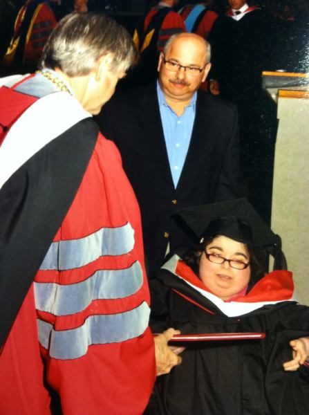 Amber receiving her Bachelors Degree in Psychology