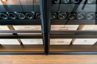 fraam stalen ramen en deuren binnendeur wijnkast