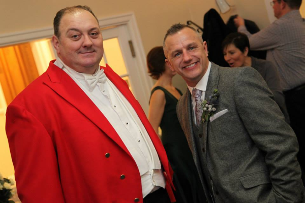 Toastmaster and Groom awaiting the arrival of the Bride at Kingswood Golf Club