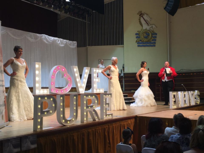 Love Pure Events Bridal Wedding Gowns with Nick Ede Toastmaster as Master of Ceremonies