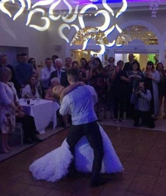 The first dance by the new Mr and Mrs Flinton