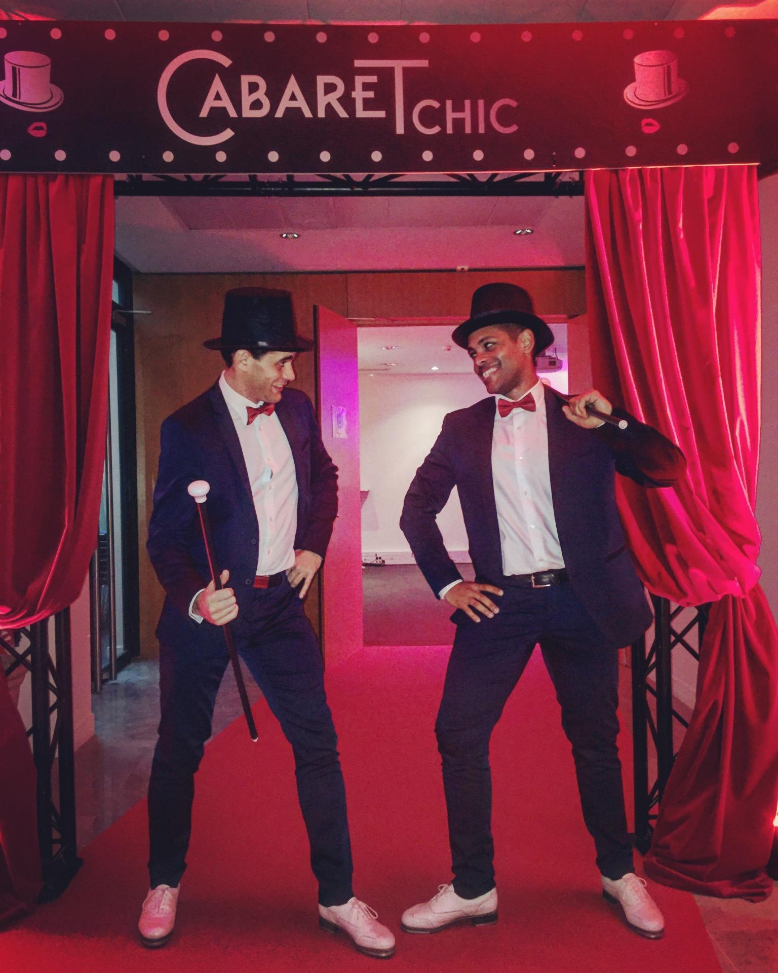 Aurel et Sam spectacle claquettes cabaret