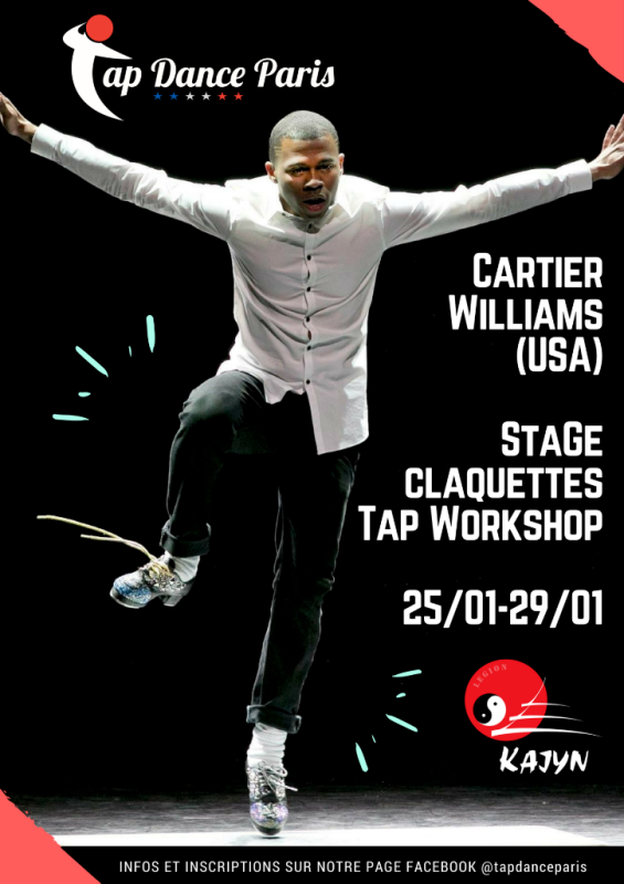 Stage claquettes Paris Cartier Williams