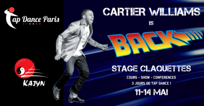 Cartier Williams Tap Dance workshop Paris - Stage claquettes