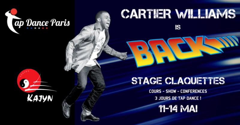 Cartier Williams Tap Dance workshop Paris - Stage claquettes