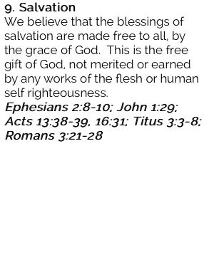 9. Salvation