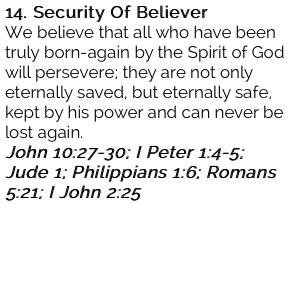 14. Security Of Believer