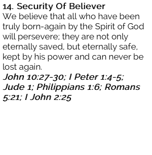 14. Security Of Believer