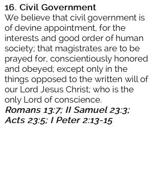 16. Civil Government