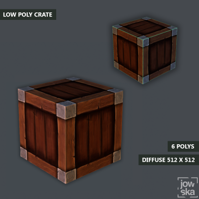 Low Poly Crate