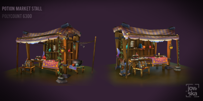 Potion Stall - Hand Painted