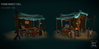 Fishing Stall - Hand Painted