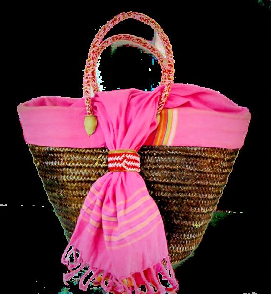 Beaded Handle Basket purse