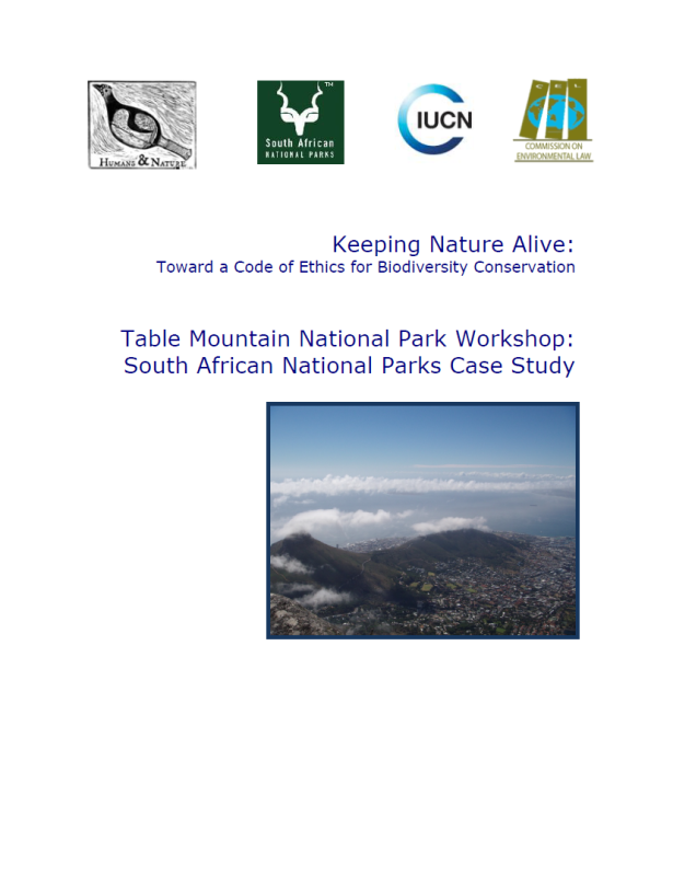 Keeping Nature Alive: Toward a Code of Ethics for Biodiversity Conservation (South African National Parks Relato)