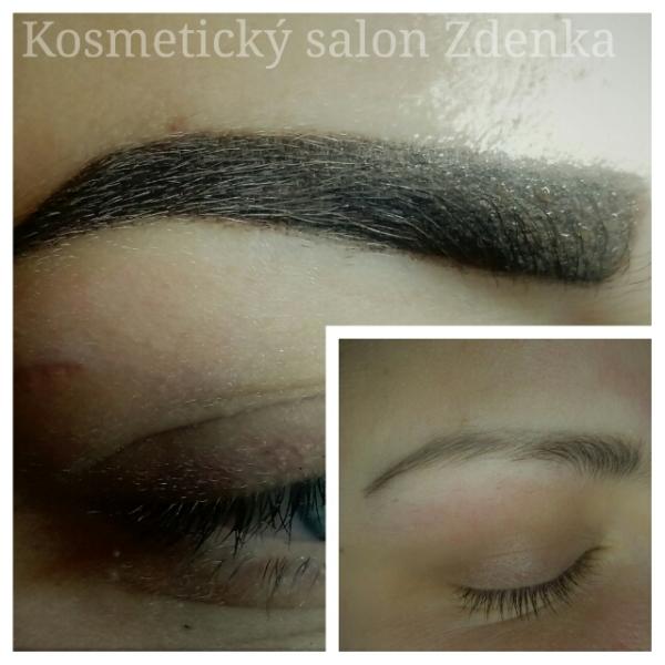 Pemanentní make up - obočí, kosmetický salon Zdenka ve Zlíně,