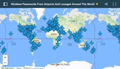 Wifi Passwords from around the world