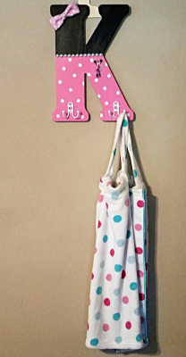 MINNIE MOUSE LETTER with HOOKS