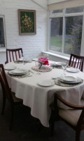 Light and airy conservatory dining