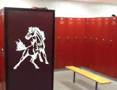Painted UHS boys locker room