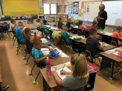 New chairs for Ms. Gunn's 1st grade classroom