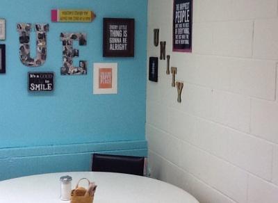 Teacher break room improvements at Unity Elem.