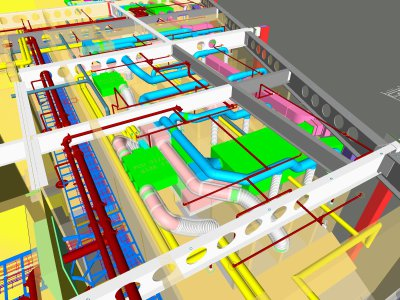 3D MEP Services Models