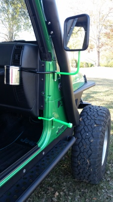 Jeep doors-off mirror mirrors cupholder cupholders snorkel Brosaps footpegs foot peg foot rest feet rest footpegs