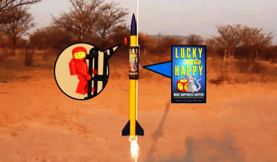 Rocket powered book launch