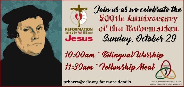 Reformation Worship 2017