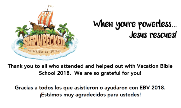 Thank you all for helping to make VBS a success!