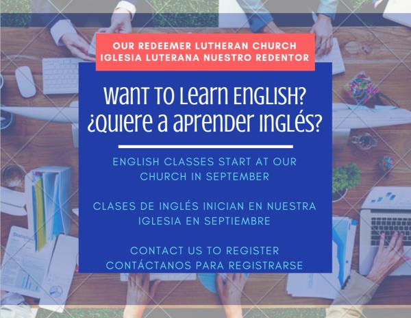 ESL Classes start soon!  | ¡Clases de Inglés inician pronto!