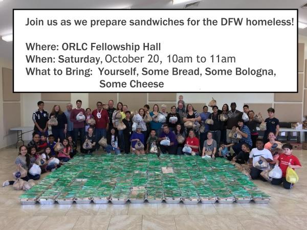 Sandwich Ministry is this Saturday | El ministerio de sandwiches es este sábado