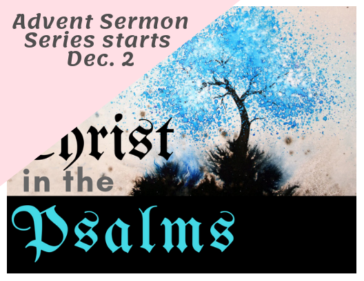 You're invited to join us as we explore the Psalms, from December 2 - December 30
