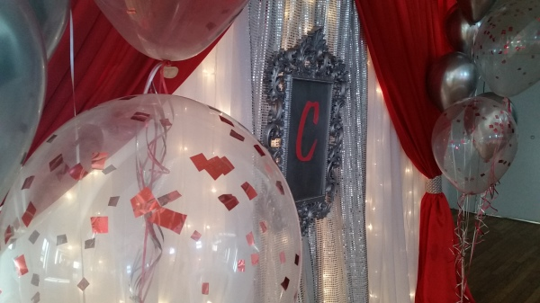 Red and Silver Quinceanera