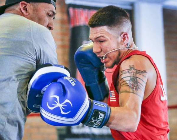 Nico training at Northside Boxing Academy