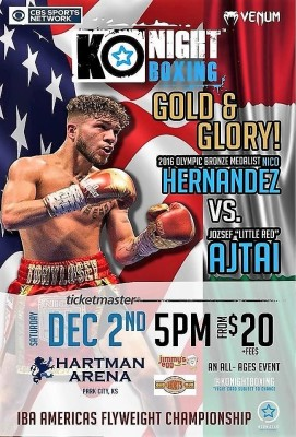 "KO Night Boxing: Gold & Glory"" at Hartman Arena in Park City, KS Saturday December 2nd"