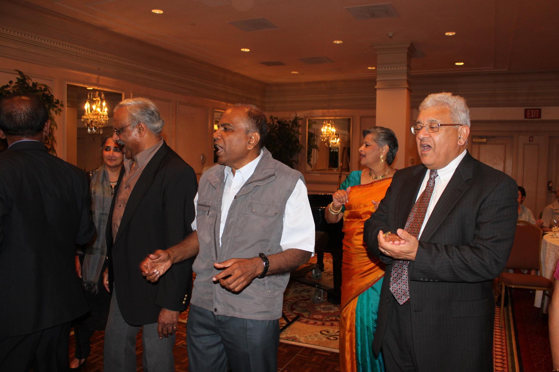 Chandran and Alok with Baila
