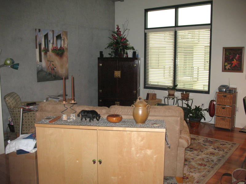 Before Feng Shui this client shared that she felt trapped at home!  Can you see why?
