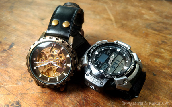 Mechanical and Digital Watch c. Jim St. James