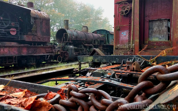 Rusting Steam Trains in Snoqualmie c. Jim St. James