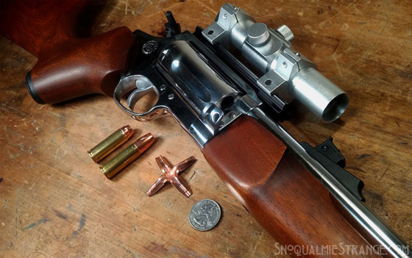 Revolving Rifle & Copper Cross Bullets